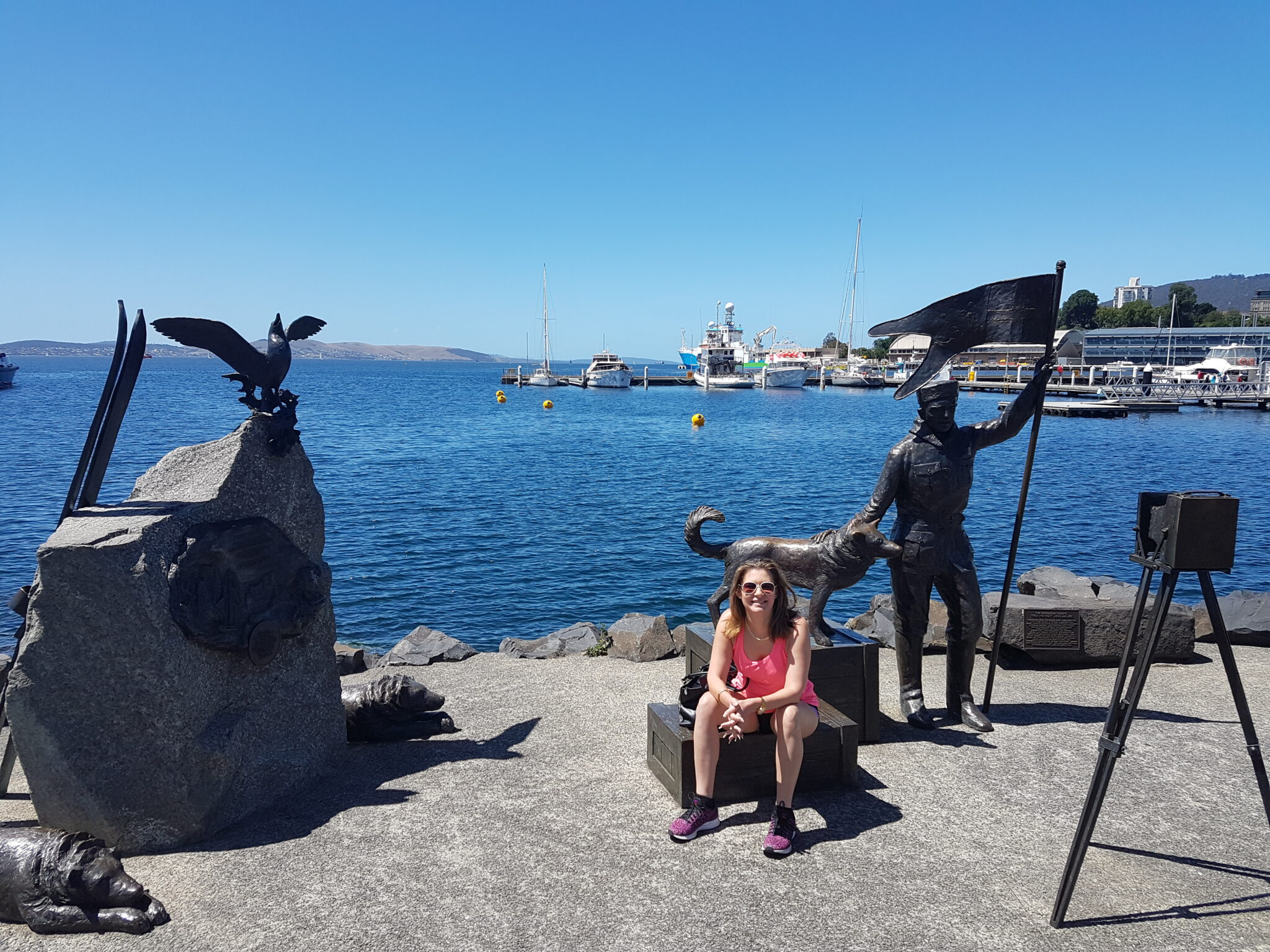Danae on the Hobart Waterfront