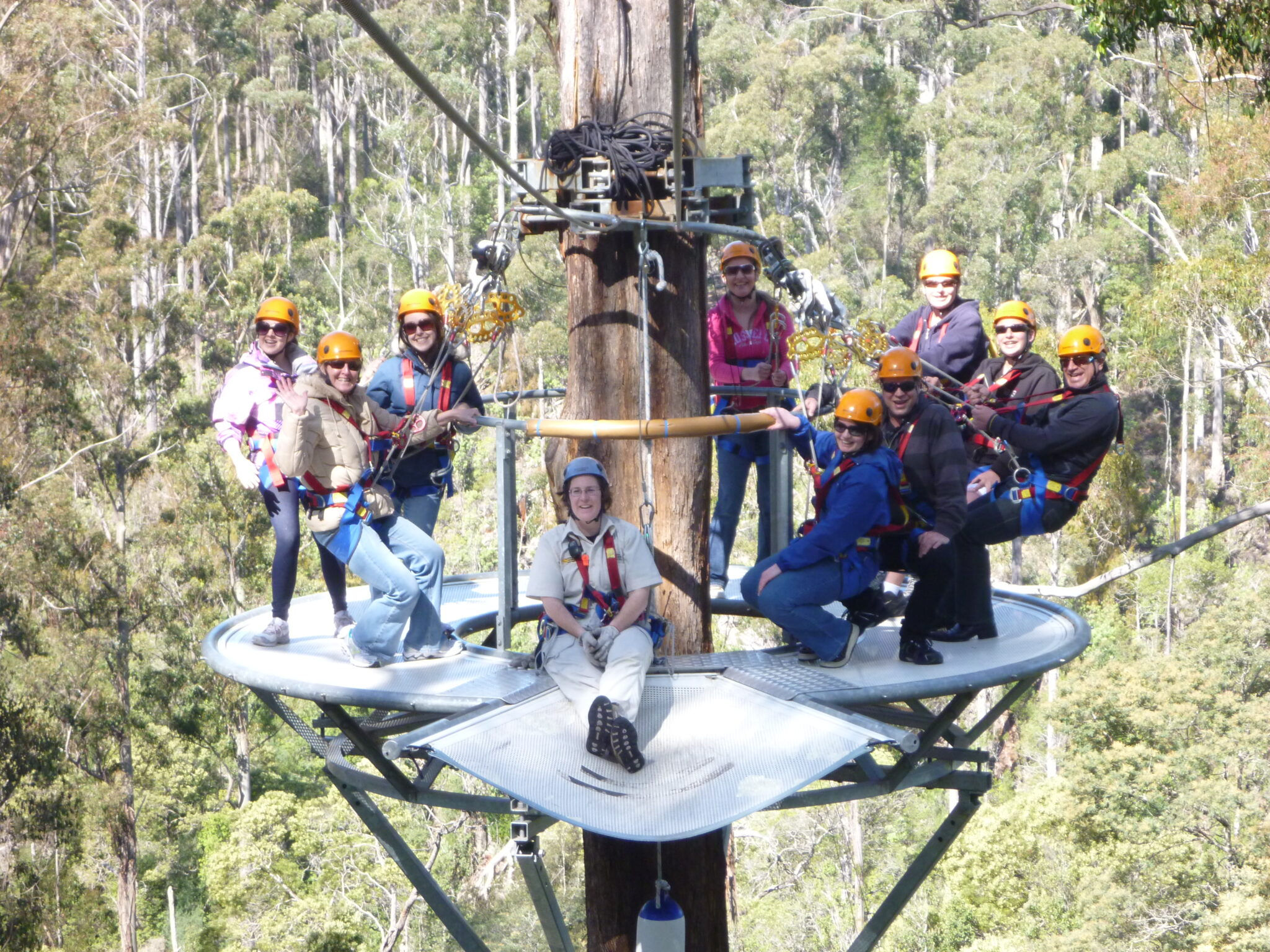 Group photo at Hollybank Treetops Adventure
